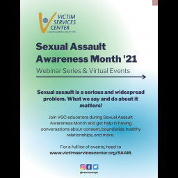 Victim Services Center - Sexual Awareness Month '21 Webinar Series & Virtual Events