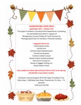 CYS Thanksgiving Food Drive